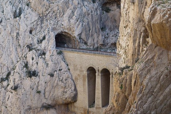 El Chorro, Spanien: Túnel del ferrocarril