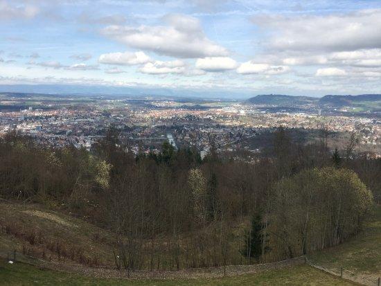 Gurten - Park im Grünen: Blick nach Norden auf die Stadt Bern