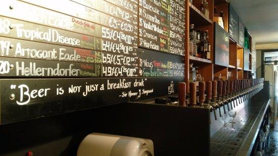 Craft & Draft Beer Bar & Shop: Menu
