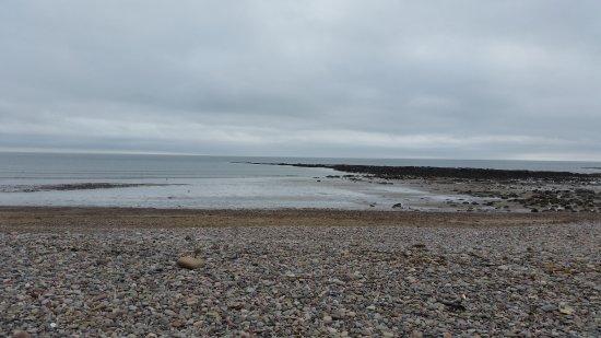 Stonehaven, UK: Kamienista plaża