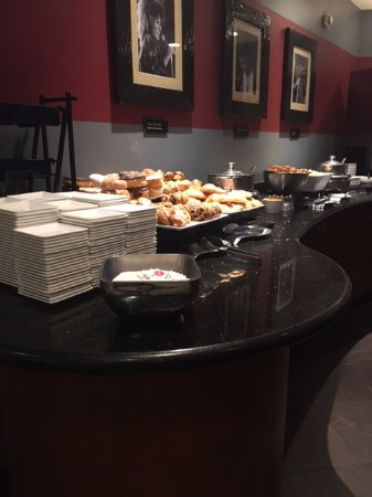 Hard Rock Hotel Universal Orlando >> Rock Royalty Club Room - part of breakfast buffet - Picture of Hard Rock Hotel at Universal ...