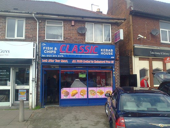Restaurants classic fish bar in birmingham with cuisine for Classic kebab house fish chips aston