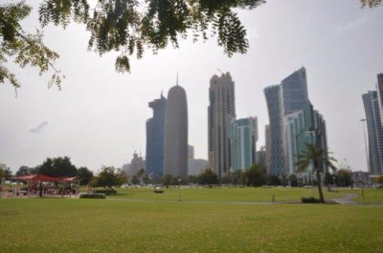 The Corniche : Park and skyline