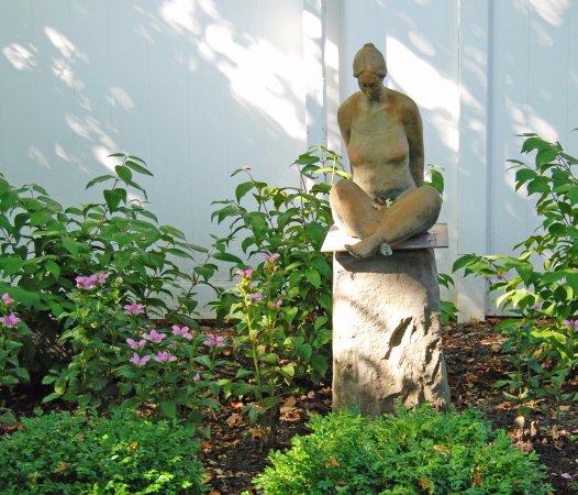 Saugatuck, MI: Outdoor garden at Wickwood