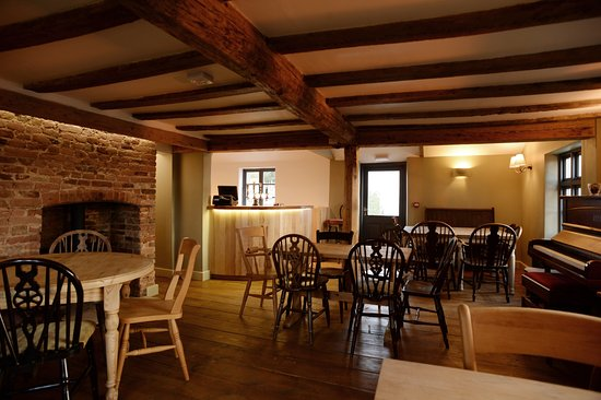 The piano bar of The Oyster Inn, Butley.  Recently restored as a traditional village pub.