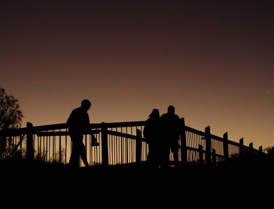 Augrabies Falls National Park, South Africa: Evening on the walkway