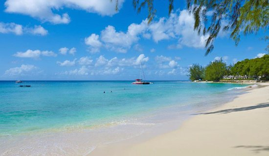 Porters, Barbados: The beach at Colony Club, crystal clear waters on the platinum coast.