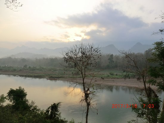 Ban Xieng Lom, Laos: view from the lodge