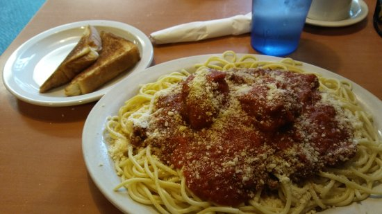 Edgerton, WI: Spaghetti and meatballs. It was great, I highly recommend it.