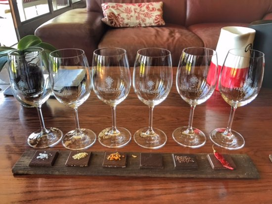 Vrede en Lust Winery: Chocolate and wine paring :-)