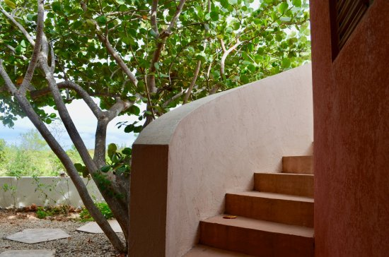 West End Village, Anguilla: Stairs to the roof deck at Gardenia Villa