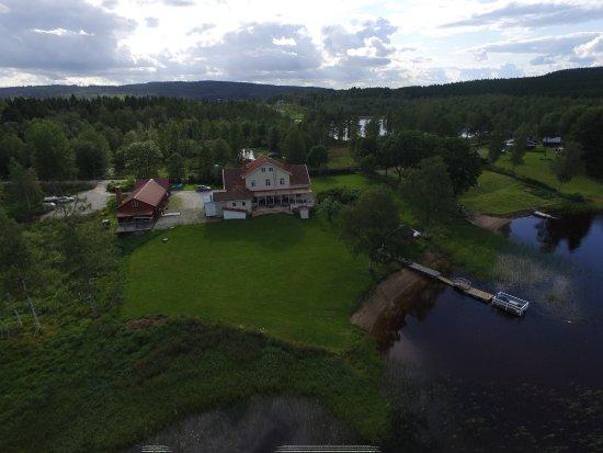Skinnskatteberg, Suecia: Pensionat Udden från ovan