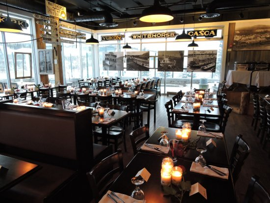 Wheelhouse Restaurant: 86 person Wedding Reception Set Up