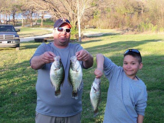 Kopperl, TX: Proud crappie fishermen
