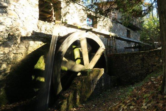 Vidzeme Region, Lettland: Water mill in work