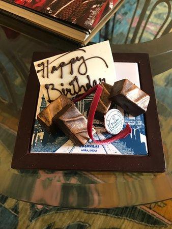 The Oberoi Amarvilas: Birthday Chocolate