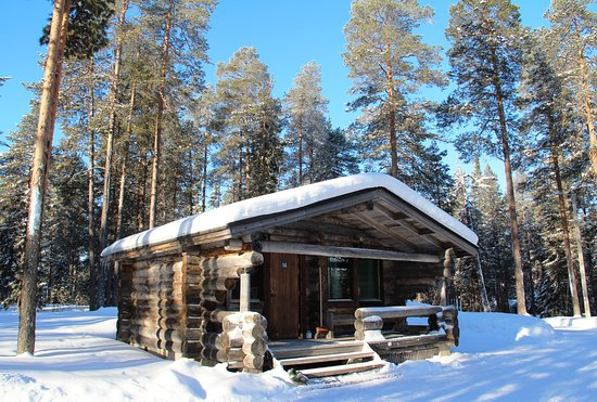 Posio, Finlandia: Grey lodge cabin