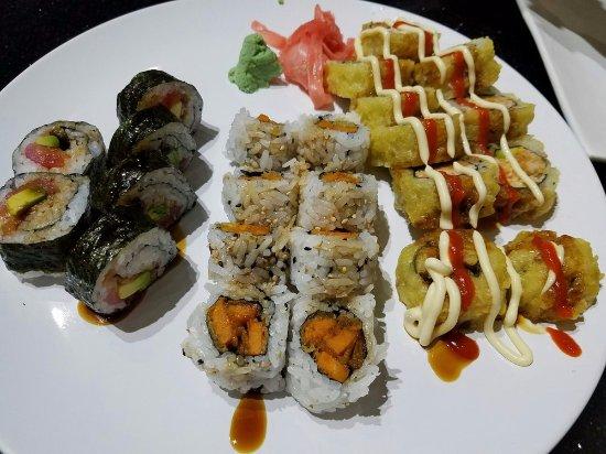 Fuji Sushi: Left to right: Geisha, Sweet Potato, Ryan