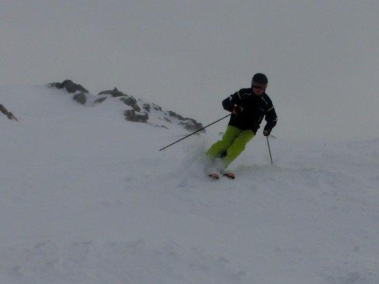 Hotel Alpenhof: Skifahren am Weissfluhgipfel