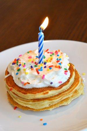 Elmhurst, IL: Birthday pancakes!