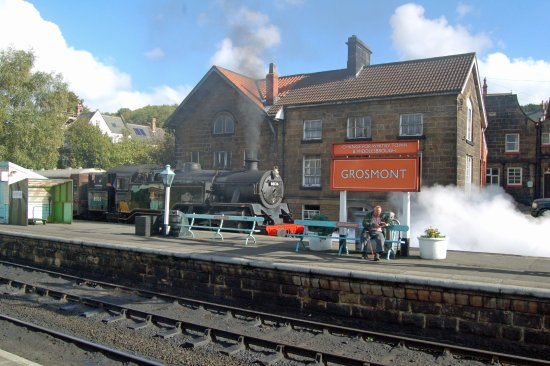 North Yorkshire Moors Railway: Grosmont is a lovely station - couple of interesting shops (one selling die-cast models_