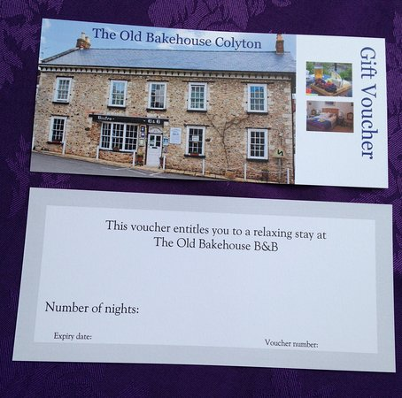 Colyton, UK: Gift vouchers proving very popular!