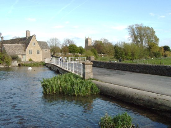 Fairford, UK : The Old Mill and Church