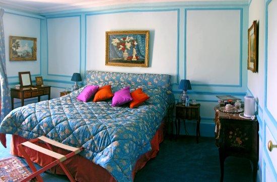 Chateau de la Barre: Chambre Bleue.