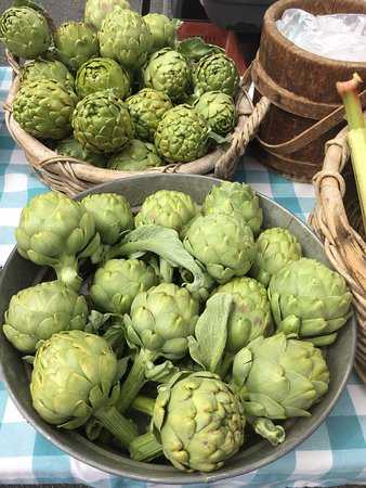 Spring means a bounty of artichokes at Cambria Farmers Market.