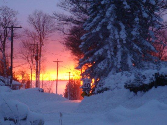Red Bay, Kanada: Winter sunset