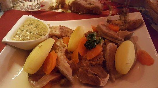Tresserve, França: tete de veau sauce gribiche