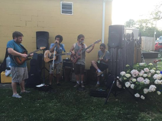 One of the bands, The Little Compton Band, at Friday Night Live!