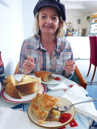 St Mawes, UK: Pasties, cob, cornish red pepper sauce, nom nom