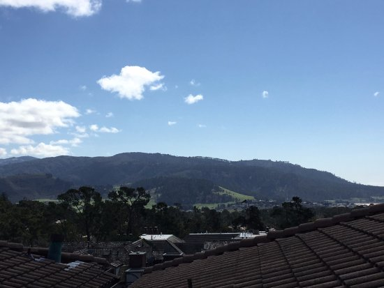 The mountain view from our patio
