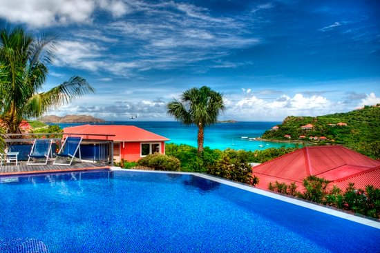 Hotel Le Village St Barth: View from the swimming pool