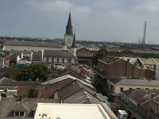 Omni Royal Orleans: Roof top view from Hotel of Jackson Square