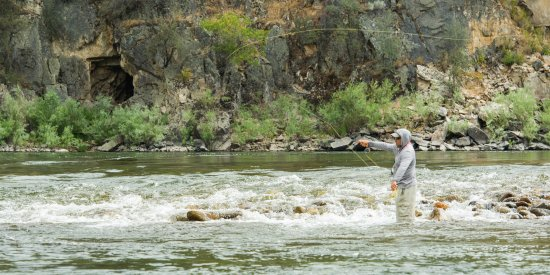 Riggins, ID: Walk and Wade fishing just a short hike from the lodge