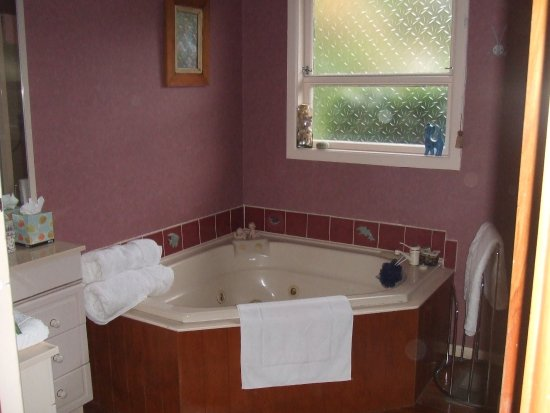 Serendipity Homestay: Your own private bathroom with shower and spa bath.