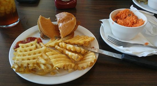 Hapeville, GA: Chick-Fil-A Platter with waffle fries and carrot & raisin salad -- yum!