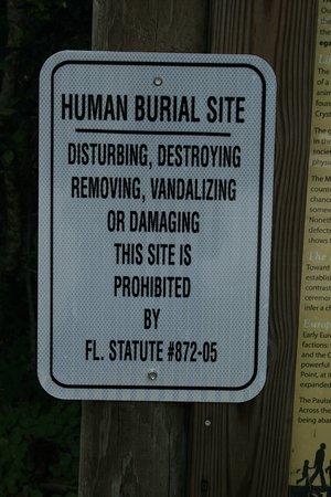 Indian Mound Park : Human Burial Site