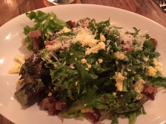 Decatur, GA: Mixed Greens, Bacon, Parmesan, Egg, Apple Cider Mustard Vinaigrette