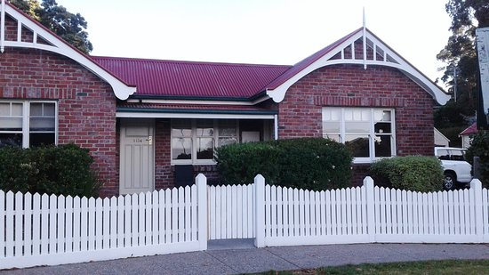 Strahan Village: The right part of this duplex was our cottage