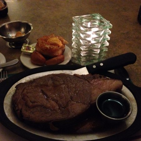 Antigo, WI: Queen Cut Prime Rib with Twice Baked Potato