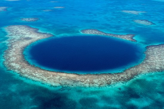 Lighthouse Reef Atoll, Belize: The extraordinary and famous Blue Hole of Belize!