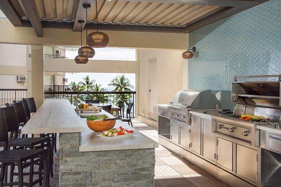 Aston Waikiki Beach Tower Barbecue Area