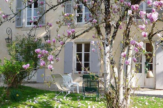 La Creche, Frankrike: détente au jardin !
