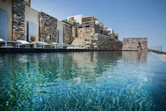 Kastro, Greece: Reflections on the infinity pool