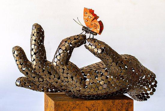 Benissa, Hiszpania: welded steel sculpture