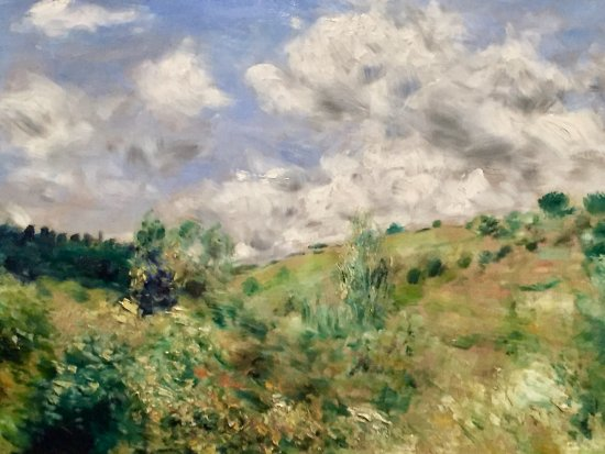 """Cambridge Tour Guides: Renoir's """"A Gust of Wind"""". One of the many great paintings at the Fitzwilliam Museum."""