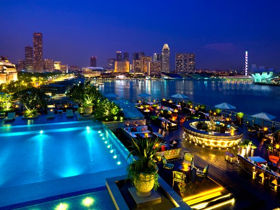 Views of the Marina Bay from Lantern Rooftop Bar